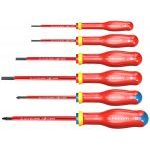 Facom ATDVE.J6PB 6 Piece ProTwist 1000V VDE Screwdriver Set Slotted and Pozi