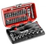 "Facom R.360NANO 1/4"" Drive Compact Socket & Bit Set With Twist Handle Ratchet"
