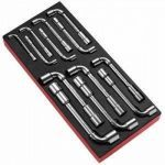 FACOM MODM.75 13 Pce. ANGLED SOCKET WRENCH SET In Tool box Module Tray