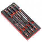 FACOM MODM.A1 8 Pce. SCREWDRIVER MODULE SET- SLOTTED & PHILLIPS