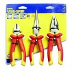 Irwin Vise-Grip 10505519 3 Piece VDE Diagonal Cutter, Long Nose and Combination Pliers Set
