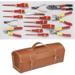 Facom 2180.SE Electricians 15 Piece Tool Set With Leather Bag