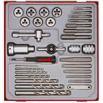 Teng TTDTD34 34 Piece Tap, Die, Drill & Screw Extractor Set