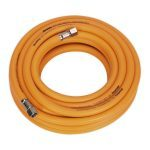 "Sealey AHHC10 8mm id x 10mtr Air Hose Hybrid High Visibility with 1/4""BSP Unions"