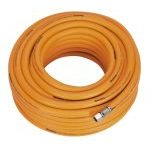 "Sealey AHHC20 8mm id x 20mtr Air Hose Hybrid High Visibility with 1/4""BSP Unions"