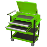 Sealey AP760MHV Heavy-Duty Mobile Tool & Parts Trolley 2 Drawers & Lockable Top - Green