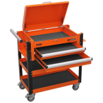 Sealey AP760MO Heavy-Duty Mobile Tool & Parts Trolley 2 Drawers & Lockable Top - Orange