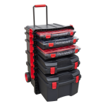 Sealey Tools AP860 Professional Tool Box Trolley with 5 Tool Storage Cases - Stack