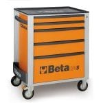 Beta C24S/5 5 Drawer Mobile Roller Cabinet Orange