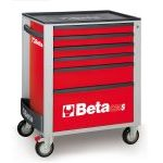 Beta C24S/6 6 Drawer Mobile Roller Cabinet Red