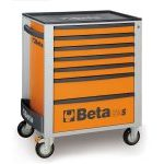 Beta C24S/7 7 Drawer Mobile Roller Cabinet Orange