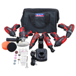 Sealey CP1200COMBO2  6 Piece 12v Cordless Power Tool Kit + 2 Batteries & Accessories