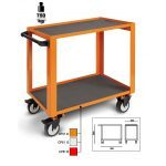 Beta CP51 2-Level Mobile Workshop Tool Trolley Orange
