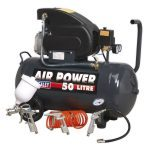Sealey SAC5020EPK Compressor 50ltr Direct Drive 2hp with Air Accessory Tool Kit