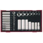 "Teng TTAF32 1/4"" & 3/8"" Drive AF (Imperial) Socket Set in Tool Box Module Tray"
