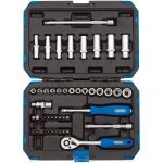 "Draper 16355 1/4"" Drive 47 Piece Metric Standard / Deep Socket Set 4-14mm"