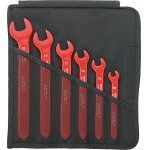 Stahlwille 12160/6 VDE 1000V Insulated 6 Piece Single Open End Spanner Set 10-22mm