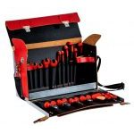 Bahco 3045V-2 19 Piece VDE Insulated Tool Kit In Leather Bag