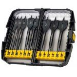 "DeWalt DT7943B 8 Piece ""Extreme"" Flat Bit Set for Wood 12 - 32mm In Tough Case"