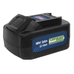 Sealey CP400BP Spare Power Tool Battery 18V 3Ah L-ion for CP400LI & CP440LIHV Wrenches
