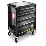 Facom ROLL.6GM3S 6 Drawer Safety Mobile Roller Cabinet - Black
