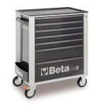 Beta C24S/7-M 7 Drawer Mobile Roller Cabinet - Matt Grey