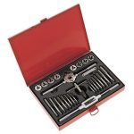 Sealey AK3028 Tap & Die Set 28pc Split Dies Metric