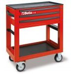 Beta C50S Service Workshop Roller Tool Trolley with 3 Drawers - Red