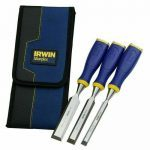 Irwin Marples 10503426 MS500 ProTouch™ All-Purpose Wood Chisel Set, Soft-Grip Handles with Striking Cap