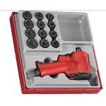 "Teng TTDAWM13M 13 Piece 1/2"" Drive Compact Impact Wrench Shallow Socket Set 10-24mm"