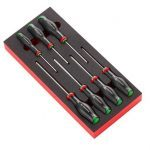 Facom MODM.ATXR 7 Piece Protwist Tamperproof Torx Screwdriver Set in Foam Tray